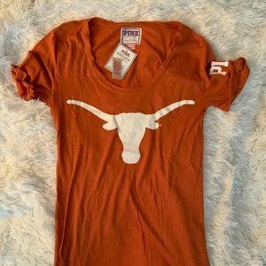 VS Pink Texas Longhorns Collegiate Tee Sz S
